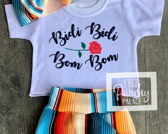 Baby Full Outfit Set / Toddler Full Outfit Set / Trendy Baby Clothes /  Designer Baby Clothing /  Bidi Bidi Bom Bom Selena Baby Clothing Set