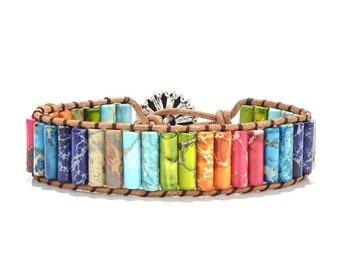 7 Chakra Gemstone Bracelet-Stone Bead Bracelet-Positive Energy Bracelet-Earth Energy Bracelet Gift-Chakra Healing Bracelet-Chakra Healing