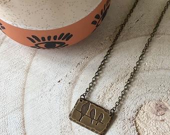 Birds Necklace - Brass