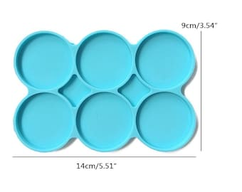 REDD 6-Cavity Silicone Large resin molds Round Molds Disc Resin Coaster Molds 6 Packsilicone mold Circle Molds Multipurpose Non-Stick DIY