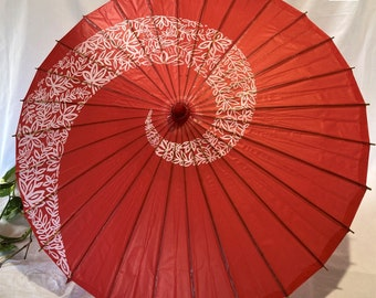 Japanese red umberlla oil paper 和傘 Wagasa