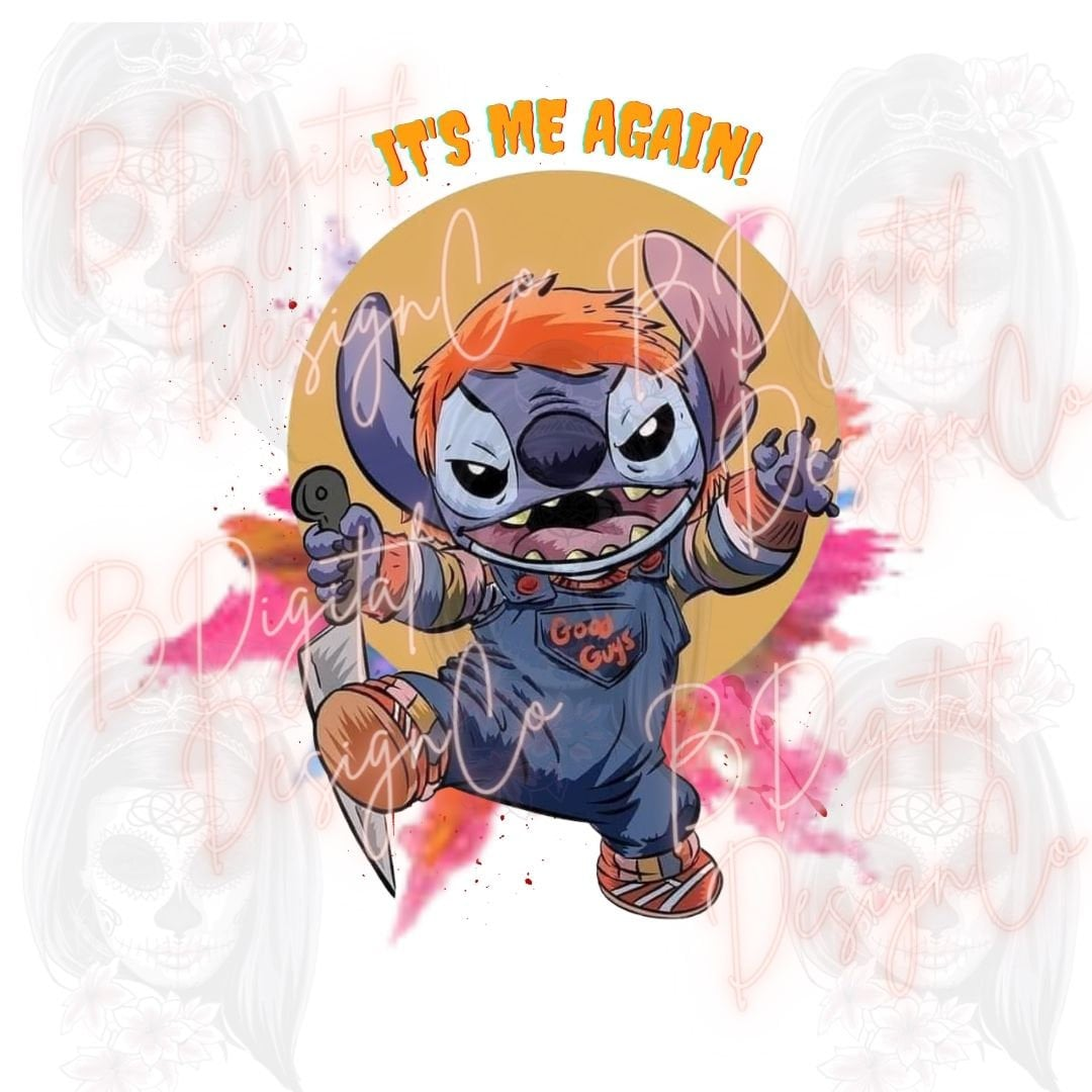 Chucky Horror Stich Halloween PNG digital design sublimation