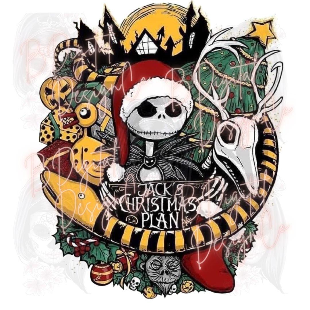 Nightmare Before Christmas PNG Jack Skellington & Sally love Sublimation file Halloween shirt clipart Sublimation design download, Tumbler