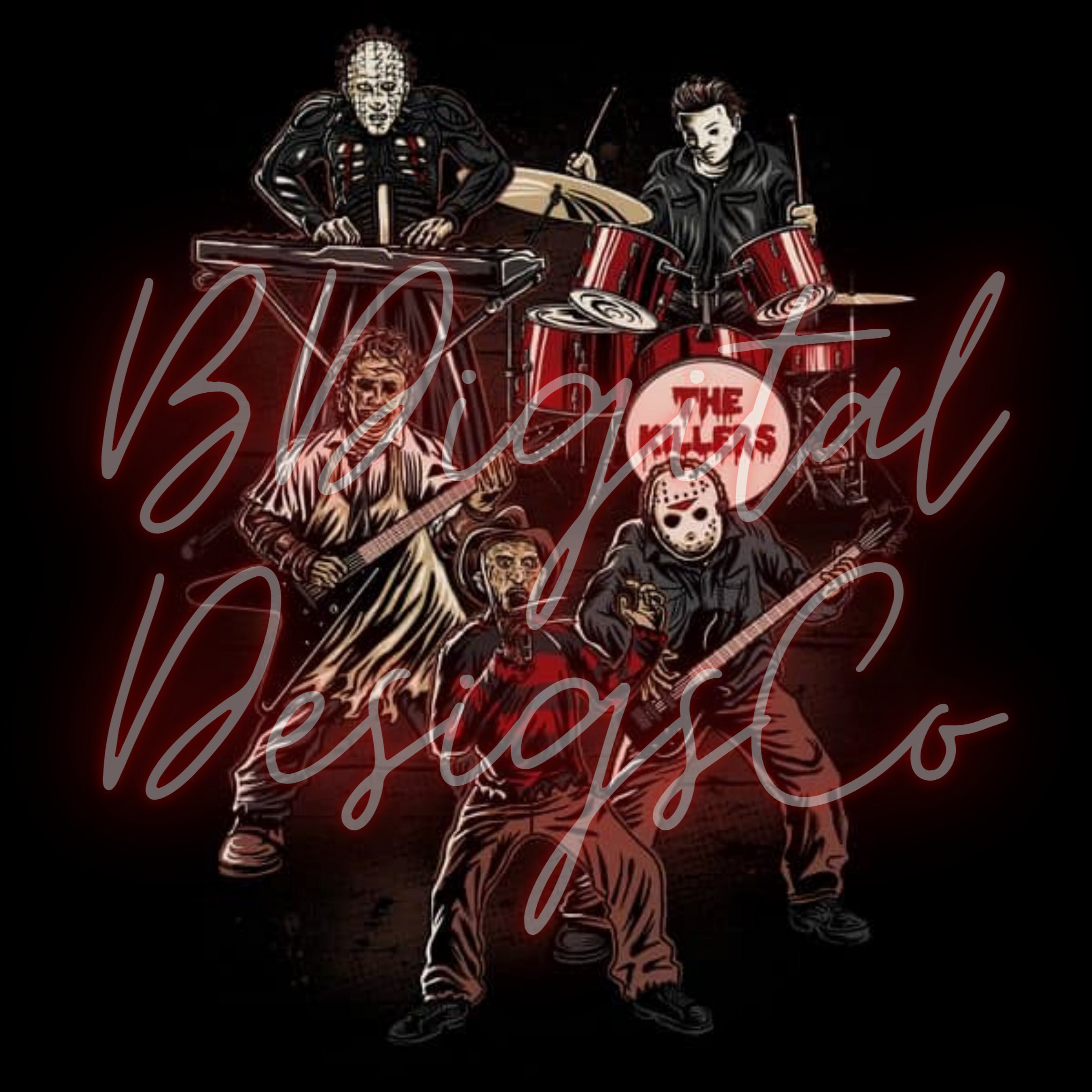 The Band Boys Of Fall, PNG, Halloween Horror Movies Freddie Jason Scary Movie Killers Digital, Sublimation Digital, Tumbler
