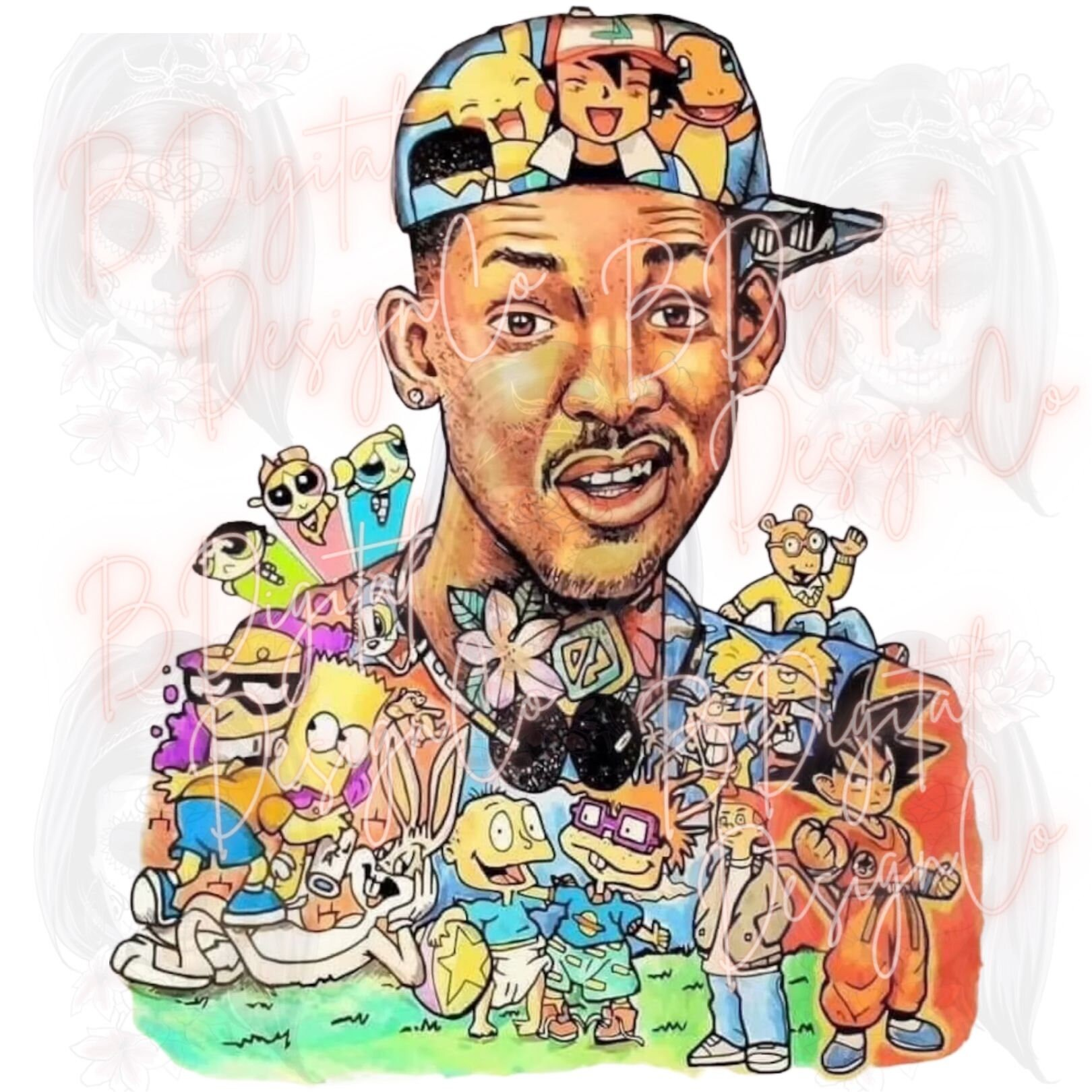 Fresh Prince Poster, 90s Animated Television Series Png Files Instant Download