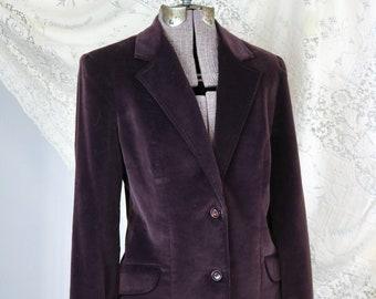 Burgundy Velvet Blazer
