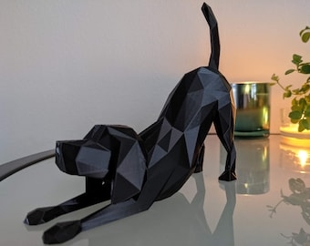 Playful dog statue sculpture . Modern, unique and made of recycled plastic. For the dog lovers. Labrador and many more breeds.