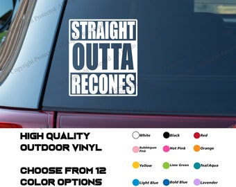 Straight Outta Recones Car Audio Decal