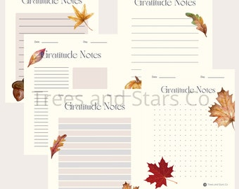 Fall Themed Gratitude Printable Pages