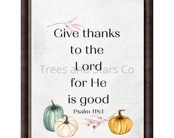 Watercolor Autumn Scripture Printable Psalm 118