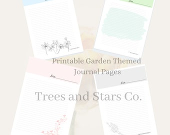 Garden Themed Journal Pages