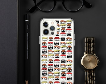 Five Sushi Brothers Clear iPhone Case with Adorable Sushi Characters!
