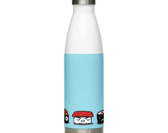 Five Sushi Brothers Stainless Steel 17-ounce Water Bottle