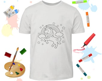 Coloring Page T-Shirt Birthday Coloring Kids T-Shirt