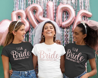 Personalised Hen Party T Shirts, Team Bride T Shirt, Hen Party Shirts, Bachelorette Party Shirts, Bachelorette Shirts, Bachelorette Gifts,