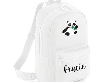 Cute Panda Backpack, Personalised School Bag, Kids Personalised Backpack, Back to School, Nursery Bag, Mini Backpack, Preschool Bag
