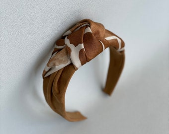 Leather silk headband, top knot hairband, headband for women, hairband women, hair accessories, turban headband, wide headband, hair band