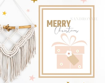 Custom Christmas Print, Personalized Custom Wall Art. Initial Typography, Custom Text Poster