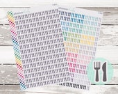S-18    FORK & KNIFE Meal Planner Stickers (A-D Gray B-Colors) photo