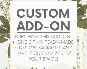CUSTOM ADD-ON | Ready-Made E-Design | Eco-Conscious E-Design | Sustainable Online Interior Design | Moodboard + Eco-Products