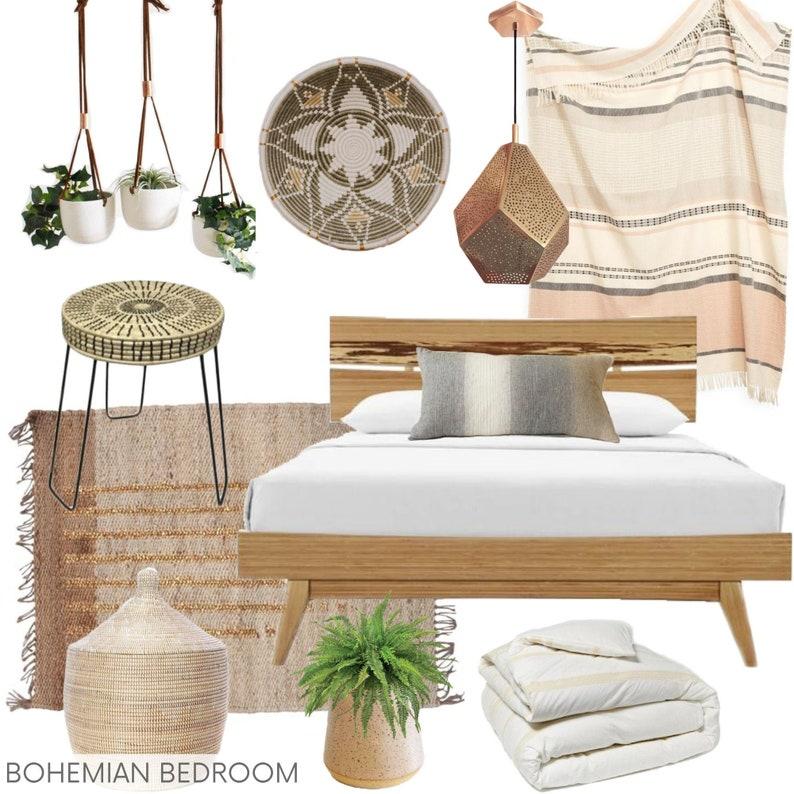CUSTOM E-DESIGN  Bohemian Bedroom  Eco-Conscious E-Design  image 1