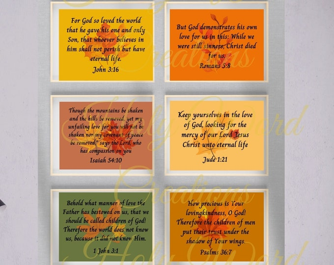 Featured listing image: Fall Christian art, Fall Faith, Faith printable, its fall wall art, fall colors wall art, biblical wall art, faith wall art printable, verse