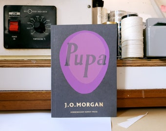 Pupa by J. O. Morgan : literary fiction with hand screenprinted cover