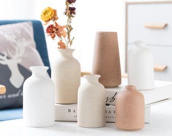 Ceramic Vases for Flowers- Unique Flower Vase- Modern Decorative Vase for Home Decoration- Nordic Vase Collection