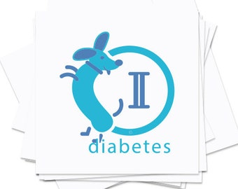 temporary tattoos diabetes type II, packets of 10