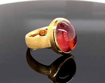 Tourmaline ring rosé in gold 18 carat
