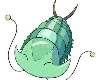 Happy Trilobite Sticker