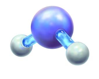 Water Molecule Sticker