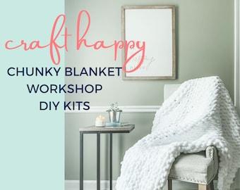 Craft Happy Chunky Blanket Workshop Kit