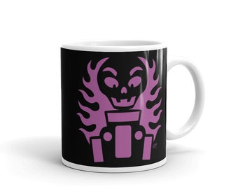 Halloween Mug - Hot Rod Halloween Skeleton - 11oz Glossy Mug