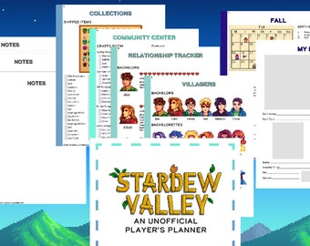 Stardew Valley Game Planner | Game Checklist | Printable | Full Planner | Digital Download