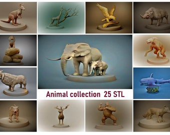 Animal Collection STL Files for 3D Printing