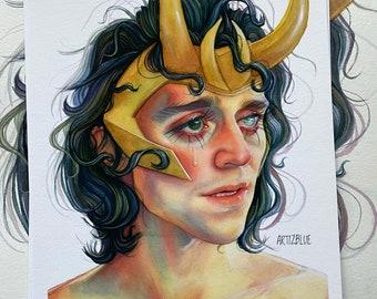 """A4  """"Loki"""" Art Print"""