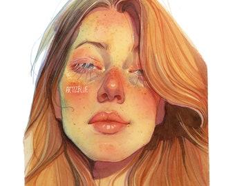 VangoghAndLoveYourself A4 Art Print