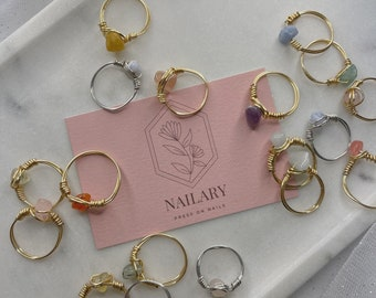 Handmade Natural Gemstone rings