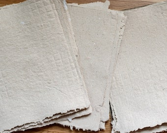 """BY THE SHEET 8.5"""" X 11"""" Lemongrass Scented Light Brown Handmade Paper With Gold Mica 