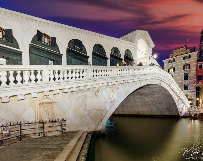 Venice Italy Wall Art, Canvas, Fine Art Print Travel Photography, Rialto Bridge, Europe, Italian Wall Decor