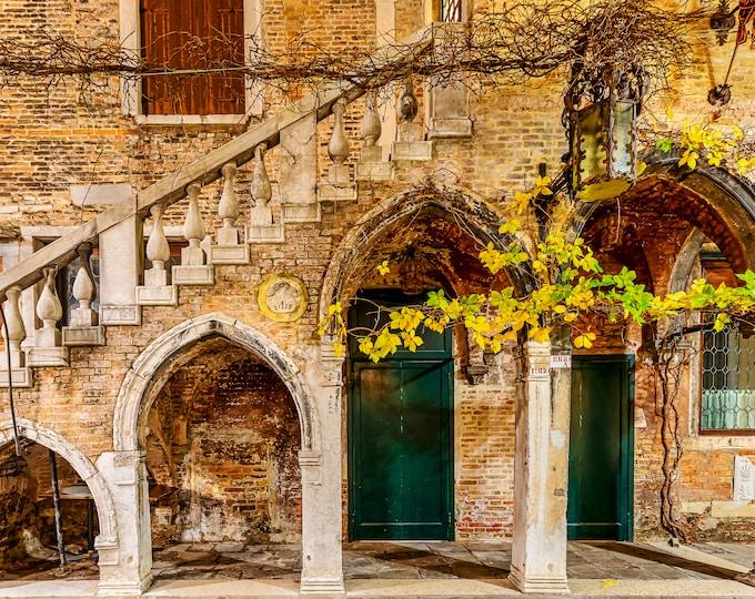 Venice Italy Wall Art, Canvas, Fine Art Print Travel Photography, Arches Of Venice, Europe, Italian Wall Decor Master Of Photography