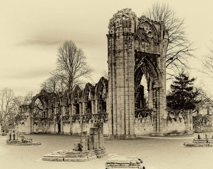 St Mary's Abbey Ruins in York Master Of Photography