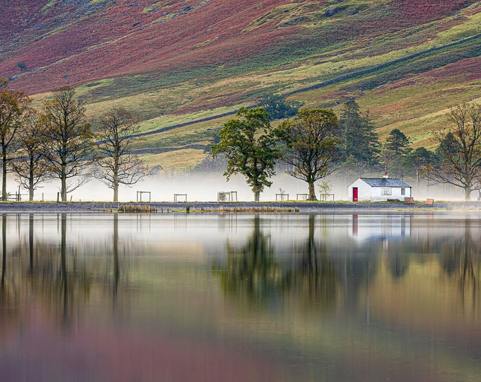 Buttermere Lake Cottage Reflections Master Of Photography