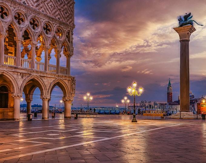 Venice Italy Wall Art, Canvas, Fine Art Print Travel Photography, St Mark's Square Doges Palace, Europe, Italian Wall Decor