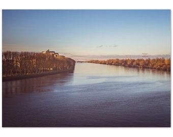 Beautiful Sunset over Amsterdam Rijnkanaal / River / Holland / Netherlands / water / sky -  Premium Matte Paper Poster