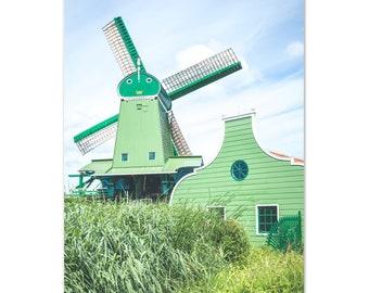 Windmill in Zaanse Schans / Holland / Netherlands / Architecture - Premium Matte Paper Poster