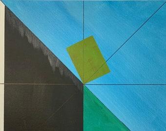 "Wall art, Abstract art, 13x16"" Giclée print, Acrylic, mixed-media"