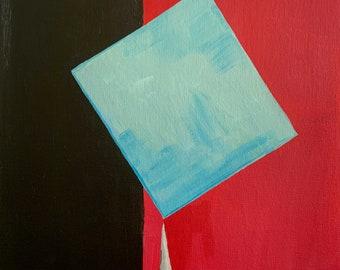 "Bold Wall art, Abstract art, 13x16"" Giclée print, Acrylic, mixed-media"