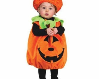 Halloween Costume ,Pumpkin Costumes for 1-4 Years Old ,38in-40in,2sizes,Comes with Black Body,